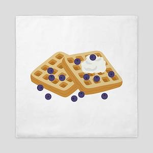 Blueberry Waffles Queen Duvet