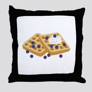 Blueberry Waffles Throw Pillow