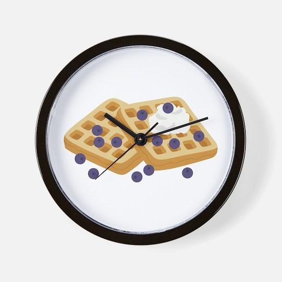 Blueberry Waffles Wall Clock