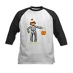 Sock Monkey Halloween Skeleton Kids Jersey Shirt