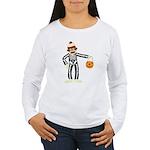 Sock Monkey Halloween Women's Long Sleeve T-Shirt