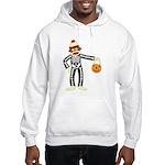 Sock Monkey Halloween Skeleton Hooded Sweatshirt