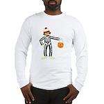 Sock Monkey Halloween Skeleton Long Sleeve T-Shirt