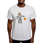 Sock Monkey Halloween Skeleton Light T-Shirt