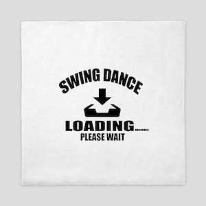 Swing Dance Loading Please Wait Queen Duvet