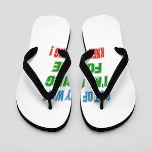 I'm going for the Knee Boarding Flip Flops