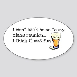 Class Reunion Oval Sticker