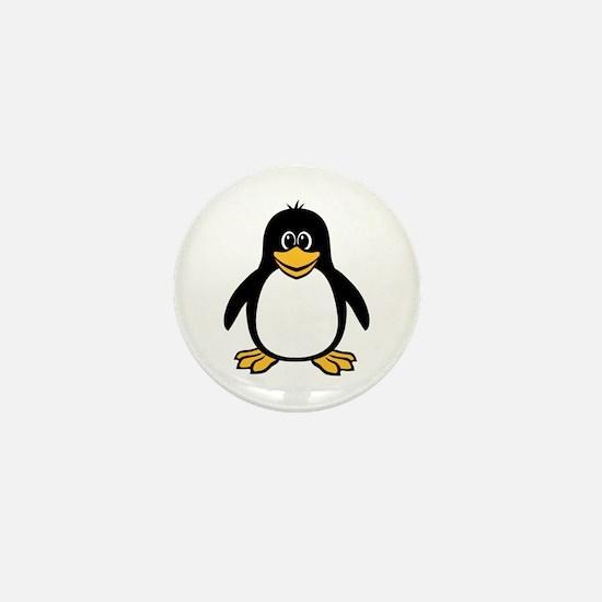 Funny Penguin Mini Button