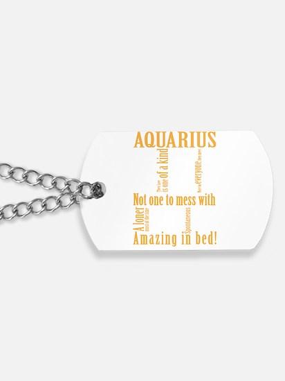Unique Aquarius Dog Tags
