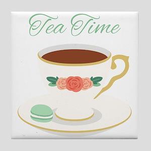Tea Time Cup Tile Coaster