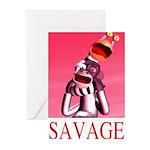 Savage Greeting Cards (Pk of 10)