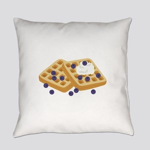 Blueberry Waffles Everyday Pillow