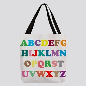 ABC text illustration Polyester Tote Bag