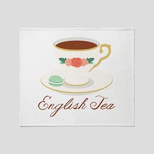 English Tea Throw Blanket