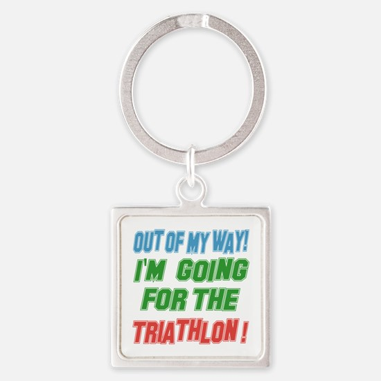 I'm going for the Triathlon Square Keychain