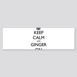 keep ginger crown Sticker (Bumper)