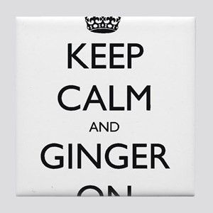 keep ginger crown Tile Coaster
