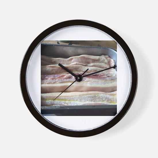 Cute Pork belly Wall Clock