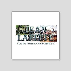 """ABH Jean Lafitte NHP Square Sticker 3"""" x 3"""""""