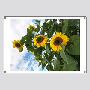 Sunny Flowery Day Banner