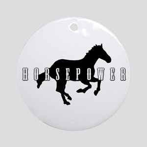 Horsepower Round Ornament