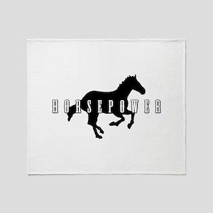 Horsepower Throw Blanket