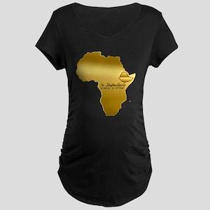 Ethiopia in Amharic Maternity T-Shirt