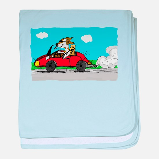 racing driver dog baby blanket