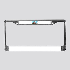 racing driver dog License Plate Frame