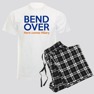 Bend Over Here comes Hillary Men's Light Pajamas