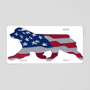 American Flag Aussie Aluminum License Plate