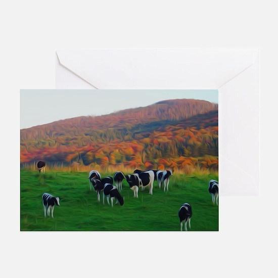 Cute Farm town Greeting Card