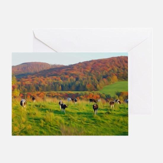 Cute Cow Greeting Card