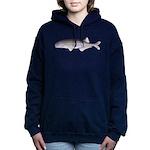Baby Whale Fish Women's Hooded Sweatshirt