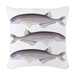 Baby Whale Fish Woven Throw Pillow