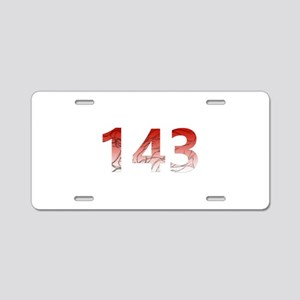 143 Aluminum License Plate