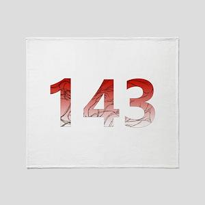 143 Throw Blanket
