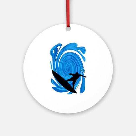 SURF Round Ornament