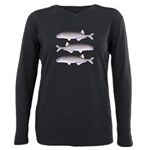 Baby Whale Fish Plus Size Long Sleeve Tee