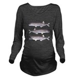 Baby Whale Fish Long Sleeve Maternity T-Shirt