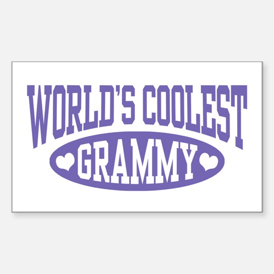 World's Coolest Grammy Sticker (Rectangle)