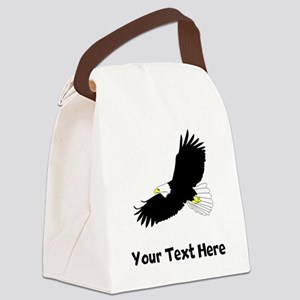 Bald Eagle Flying (Custom) Canvas Lunch Bag