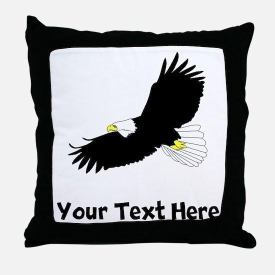 Bald Eagle Flying (Custom) Throw Pillow