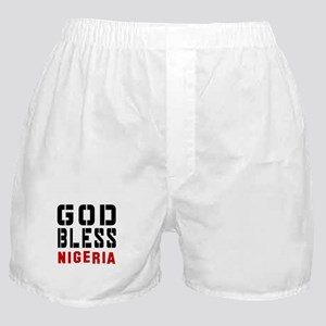 God Bless Nigeria Boxer Shorts