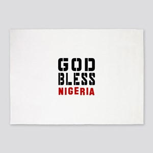 God Bless Nigeria 5'x7'Area Rug