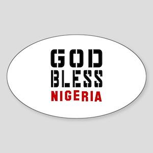God Bless Nigeria Sticker (Oval)