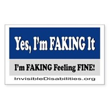 Yes, I'm Faking It Sticker