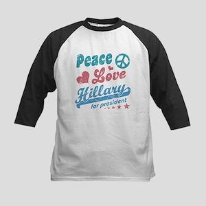 Peace Love Hillary For President Baseball Jersey