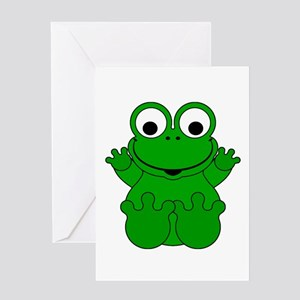 Kermit the frog greeting cards cafepress cute cartoon frog greeting card m4hsunfo