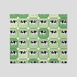 Tiled cows pattern Throw Blanket